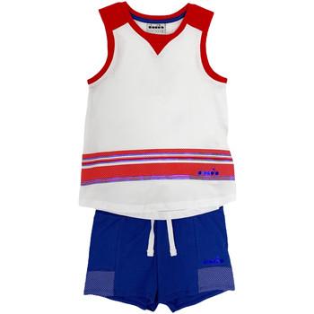 Textiel Kinderen Setjes Diadora 102175915 Wit