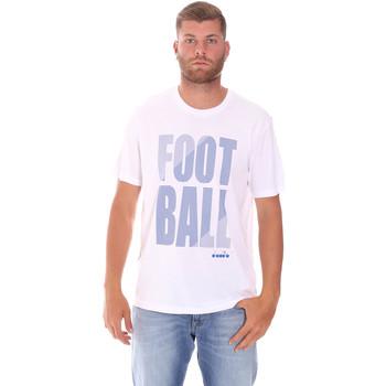 Textiel Heren T-shirts korte mouwen Diadora 102175854 Wit