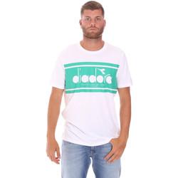 Textiel Heren T-shirts korte mouwen Diadora 502176632 Wit