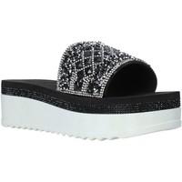 Schoenen Dames Leren slippers Keys K-4842 Zwart