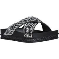 Schoenen Dames Leren slippers Keys K-4810 Zwart