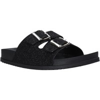 Schoenen Dames Leren slippers Keys K-4830 Zwart