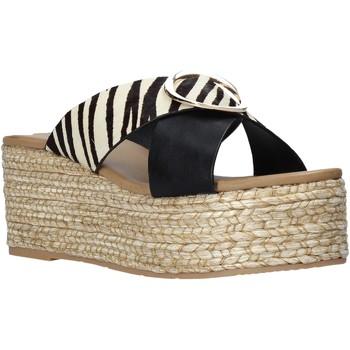 Schoenen Dames Leren slippers Gold&gold A21 GK98 Zwart