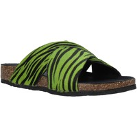 Schoenen Dames Leren slippers Bionatura 10A2118-I-CAVERN Groen