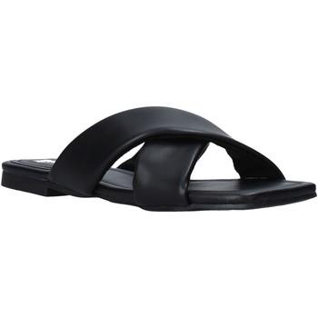 Schoenen Dames Leren slippers Gold&gold A21 GY221 Zwart