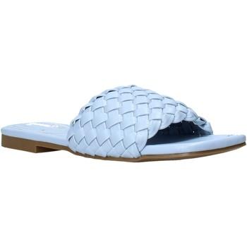 Schoenen Dames Leren slippers Gold&gold A21 GY223 Blauw