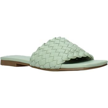 Schoenen Dames Leren slippers Gold&gold A21 GY223 Groen