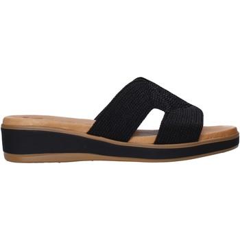 Schoenen Dames Leren slippers Susimoda 1032 Zwart