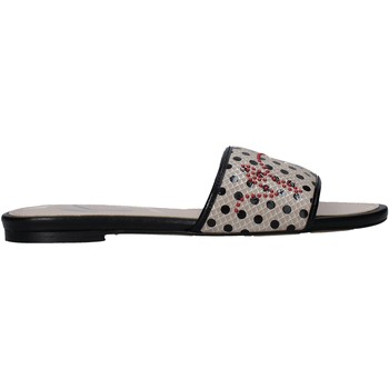 Schoenen Dames Leren slippers Manila Grace S622LP Beige