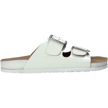 Schoenen Dames Leren slippers Docksteps DSE105460 Wit
