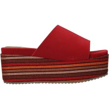 Schoenen Dames Leren slippers Onyx S20-SOX751 Rood