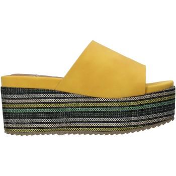 Schoenen Dames Leren slippers Onyx S20-SOX751 Geel