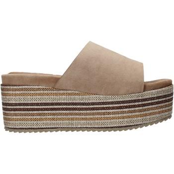 Schoenen Dames Leren slippers Onyx S20-SOX751 Bruin