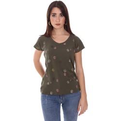 Textiel Dames T-shirts korte mouwen Lumberjack CW60343 013EU Groen