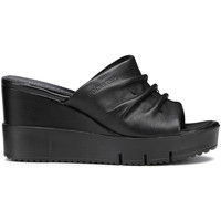 Schoenen Dames Leren slippers Docksteps DSW952106 Zwart