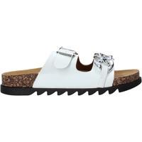 Schoenen Dames Leren slippers Gold&gold A21 FL160 Wit