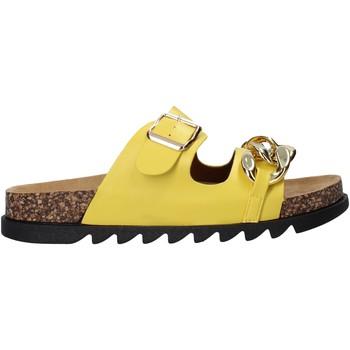Schoenen Dames Leren slippers Gold&gold A21 FL160 Geel