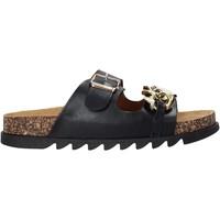 Schoenen Dames Leren slippers Gold&gold A21 FL160 Zwart