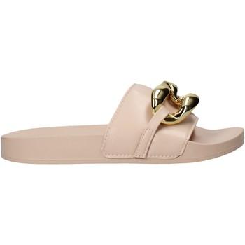 Schoenen Dames Leren slippers Gold&gold A21 FL162 Roze