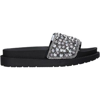 Schoenen Dames Leren slippers Gold&gold A21 FL142 Zwart