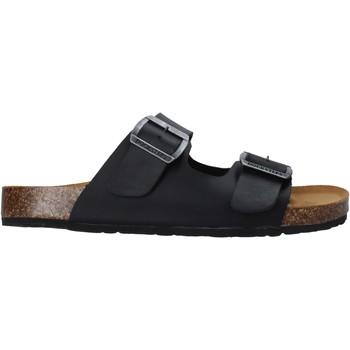 Schoenen Heren Leren slippers Docksteps DSM228600 Zwart