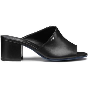 Schoenen Dames Leren slippers Alberto Guardiani AGW003305 Zwart
