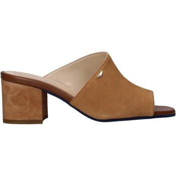 Schoenen Dames Leren slippers Alberto Guardiani AGW003301 Bruin