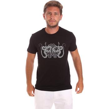 Textiel Heren T-shirts korte mouwen Roberto Cavalli HST66B Zwart