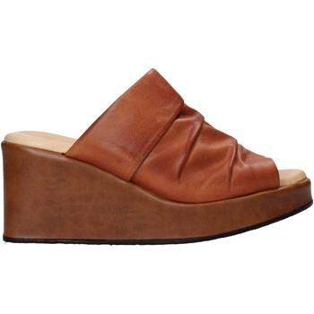 Schoenen Dames Leren slippers Sshady L2501 Bruin