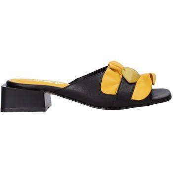 Schoenen Dames Leren slippers Sshady MRT303 Zwart