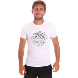 Textiel Heren T-shirts korte mouwen Roberto Cavalli HST64B Wit