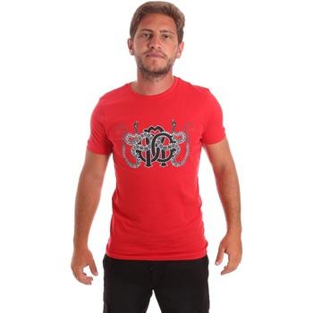 Textiel Heren T-shirts korte mouwen Roberto Cavalli HST66B Rood