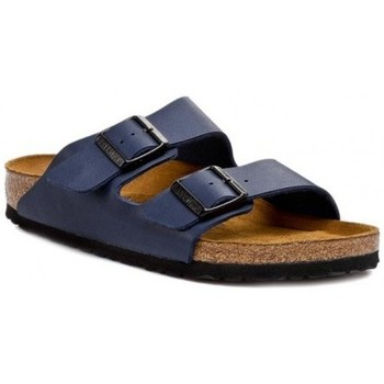 Schoenen Kinderen Leren slippers Birkenstock Arizona Kids Bleu marine