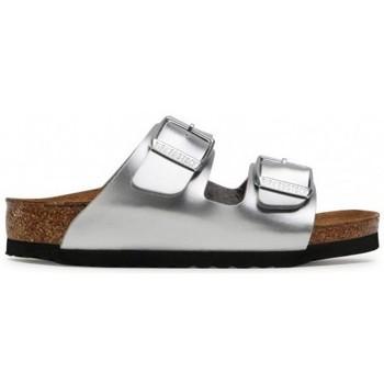Schoenen Kinderen Leren slippers Birkenstock Arizona Kids BF Argent
