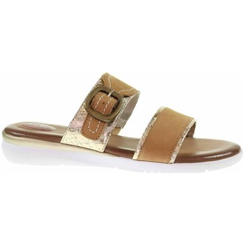 Schoenen Dames Leren slippers Jana 882710726339 Marron