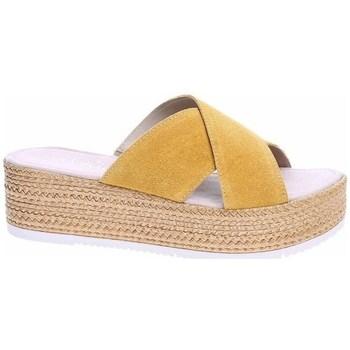Schoenen Dames Leren slippers S.Oliver 552720022602 Beige, Miel