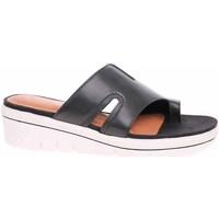 Schoenen Dames Leren slippers Marco Tozzi Antic Noir
