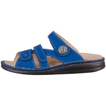 Schoenen Dames Leren slippers Finn Comfort Agueda Bleu