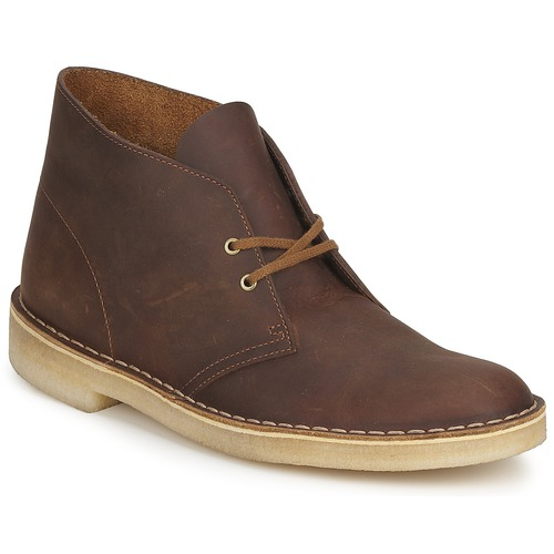 Schoenen Heren Laarzen Clarks DESERT BOOT Brown