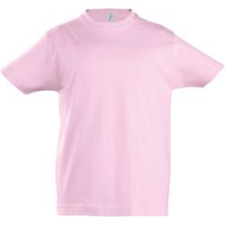 Textiel Kinderen T-shirts korte mouwen Sols 11770 Medium Roze