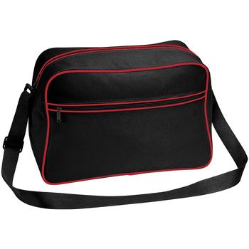 Tassen Jongens Schoudertassen met riem Bagbase BG14 Zwart/Klassiek Rood