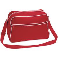 Tassen Jongens Schoudertassen met riem Bagbase BG14 Klassiek rood/wit