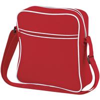 Tassen Jongens Schoudertassen met riem Bagbase BG16 Klassiek rood/wit