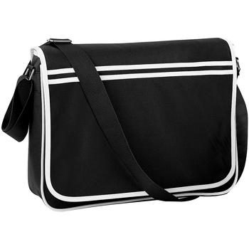 Tassen Jongens Schooltassen Bagbase BG71 Zwart/Wit