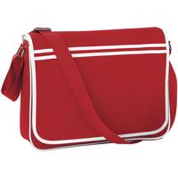 Tassen Jongens Schooltassen Bagbase BG71 Klassiek rood/wit