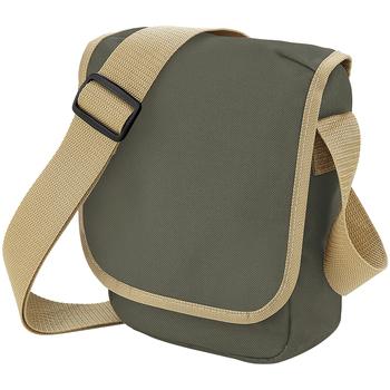 Tassen Jongens Schooltassen Bagbase BG18 Olijf/Karamel