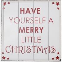 Wonen Feestelijke decoraties Christmas Shop (40 x 40 cm) RW3841 Wit / Rood