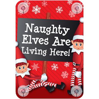 Wonen Feestelijke decoraties Christmas Shop RW6420 Hier wonen ondeugende elfen