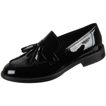 Schoenen Dames Mocassins Vagabond Shoemakers Amina Black Lack Noir