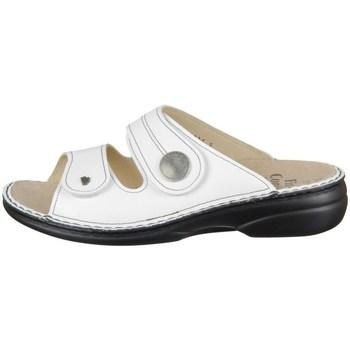Schoenen Dames Leren slippers Finn Comfort Sansibar Blanc